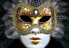 Venezia Woman Mask. Venezia Woman Carnival Mask with Feathers royalty free stock image