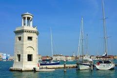 Venezia, yacht di parcheggio Immagini Stock Libere da Diritti