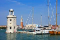Venezia, yacht di parcheggio Fotografie Stock Libere da Diritti