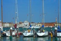 Venezia, yacht di parcheggio Immagine Stock Libera da Diritti