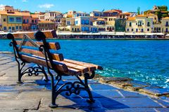Venezian-Artansicht Chania Griechenland lizenzfreie stockbilder