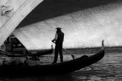 Venezian gondola stock image