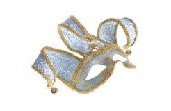 Maschera veneziana blu di carnevale Fotografia Stock Libera da Diritti
