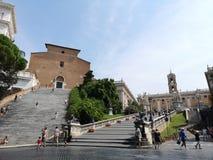 Veneziavierkant in Rome, Italie royalty-vrije stock foto's