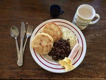 Venezolaans ontbijt Stock Foto's