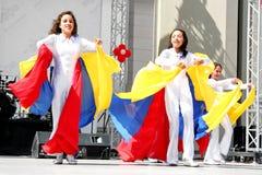 Venezolanen in traditioneel kostuum Royalty-vrije Stock Fotografie