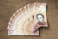 100 venezolanische bolivares Banknote Lizenzfreie Stockbilder