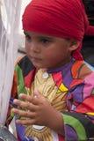 Venezolanische Tanzenteufel von Naiguata in den Kostümen, die Fische UNESCO-immateriellen Kulturerben darstellen lizenzfreie stockfotos