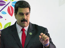 Venezolanischer Präsident Nicolas Maduro lizenzfreie stockfotografie