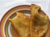 Venezolanischer Teller: ` Empanadas-`; Fleisch und Käse stockbilder