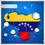 Venezuela air travel abstract background Royalty Free Stock Photography