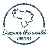 Venezuela, Bolivarian Republic of Map Outline. Vintage Discover the World Rubber Stamp with Venezuela, Bolivarian Republic of Map. Hipster Style Nautical Royalty Free Stock Photos