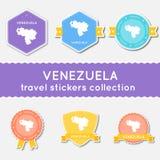 Venezuela, Bolivarian Republic of travel stickers. Stock Images