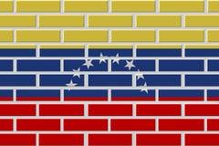 Venezuela brick flag illustration royalty free illustration