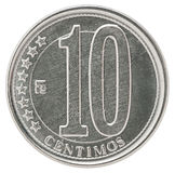 Venezuela centimos coin Royalty Free Stock Photo