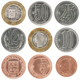 Venezuela coin set Royalty Free Stock Images