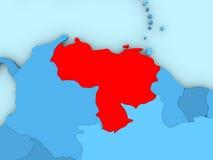 Venezuela on 3D map Stock Photos