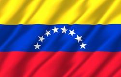 Venezuela realistic flag illustration. royalty free illustration