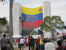 Venezuela de chavez da morte Imagens de Stock