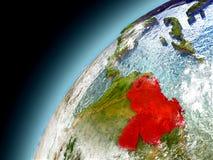 Venezuela de la órbita de Earth modelo Fotografía de archivo libre de regalías