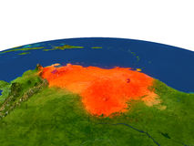 Venezuela en rojo de la órbita libre illustration