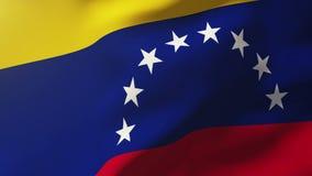 Venezuela fahnenschwenkend im Wind Schleifungssonne lizenzfreie abbildung