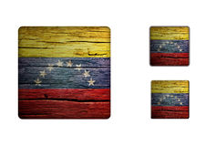 Venezuela flag Buttons Royalty Free Stock Images