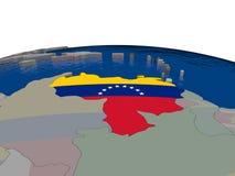 Venezuela with flag Royalty Free Stock Image