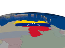Venezuela with flag Stock Photography