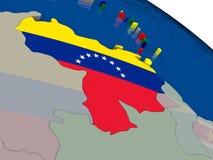 Venezuela with flag Royalty Free Stock Photos