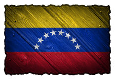 Venezuela flag. Painted on wooden tag royalty free stock photos