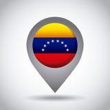 Venezuela flag pin Royalty Free Stock Photos