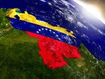 Venezuela with flag in rising sun Stock Photo