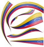 Venezuela flag set. On white background Stock Photography