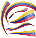 Venezuela flag set Stock Photography