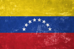 Venezuela - Flag. Venezuela - Venezuelan Flag on Old Grunge Texture Background stock photo
