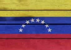 Venezuela flag on a wood Royalty Free Stock Photo