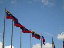 Venezuela flagga på blå himmel, Caracas, Venezuela Royaltyfri Foto