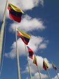 Venezuela flagga på blå himmel, Caracas, Venezuela Royaltyfria Bilder