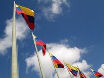 Venezuela flagga på blå himmel, Caracas, Venezuela Arkivbild