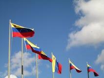 Venezuela flagga på blå himmel, Caracas, Venezuela Royaltyfria Foton