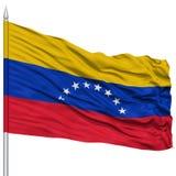 Venezuela flagga på flaggstång Arkivbilder