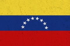 Venezuela-Flagge auf Betonmauer stockbilder