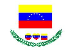 Venezuela-Flaggenvektorillustration Venezuela-Flagge r Stockbild