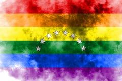 Venezuela gay grunge flag, LGBT Venezuela flag royalty free illustration