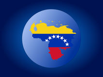 Venezuela globe Royalty Free Stock Photo