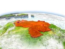 Venezuela on globe Royalty Free Stock Images