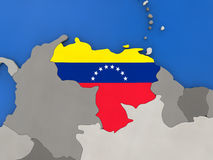 Venezuela on globe Royalty Free Stock Photography