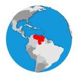 Venezuela on globe Stock Photos