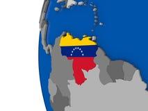 Venezuela on globe Stock Photo